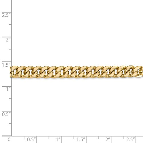 Mia Diamonds 14k Yellow Gold Hollow Miami Cuban Bracelet or Anklet -8'' (8in x 6mm) by Unknown (Image #1)