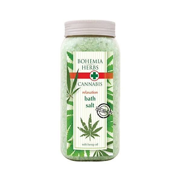 Cannabis Spa Gift Pack Original Pure Natural Cosmetics. Cream shower gel 500 ml with hemp seed oil. Bath salt 600 g with hemp seed oil. Handmade soap.