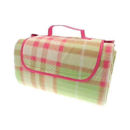 Country Club Picnic & Beach Blanket 130 x 150cm, Green Tartan by Online Kitchenware