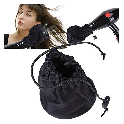 Hair Dryer Cloth Bag Diffuser Hair Tool,Hairdressing Dryer Diffuser Universal Blow Blower Nozzle Salon Hair Tool (Black)