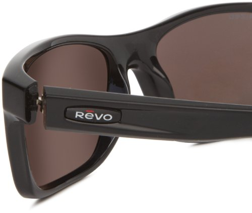 88c16b4990 Revo 4061-02 Polished Black Square Classic Rectangle Sunglasses Polarised   Amazon.co.uk  Clothing