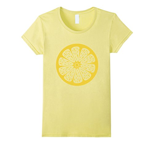 Cute Female Costumes (Womens Lemon Cute Cheap Halloween Costume Fruit Lemons Shirt Small Lemon)