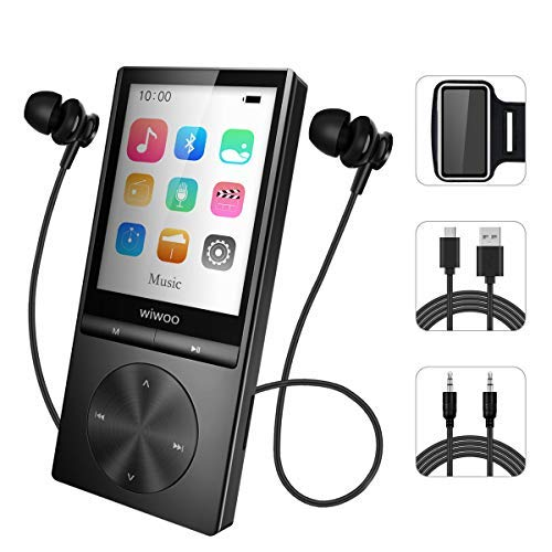 16GB MP3 Player with Bluetooth, Portable Music Player with FM Radio Voice Recorder with Armband for Running, Metal Button MP3 Player Expandable Up to 128GB (Ipods And Mp3 Players)