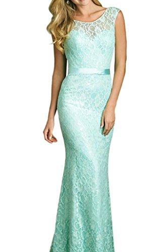 Minze U Beige Spitze lang Partykleider Gruen ausschnitt Minze Marie Brautjungfernkleider Abendkleider La Braut Gruen xYgC7Cqw