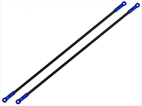Rakon Closeout Blade 180CFX CNC AL Tail Boom Support Set (Blue) - 180CFX812-B