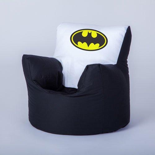 Batman Logo Transfer Print Childrens Toddler Character Bean Bag Lounger Chair