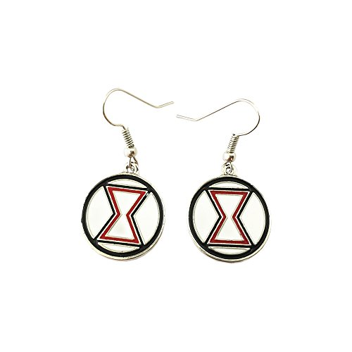 Outlander Marvel Black Widow Color Logo Earring Dangles In Gift Box From -