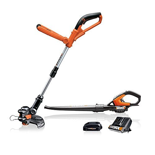 WORX 20V Grass Trimmer and Blower Combo Kit with 2 Batteries