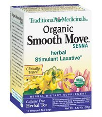 Traditional Medicinals Herbal Teas, Organic Smooth Move, 16 Tea Bags (Pack of 3) (The Best Laxative Tea)