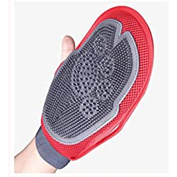 Dog Bathing Artifact pet Gloves cat Brush Massage Gloves in Addition to cat Hair Cleaner Samoyed Supplies