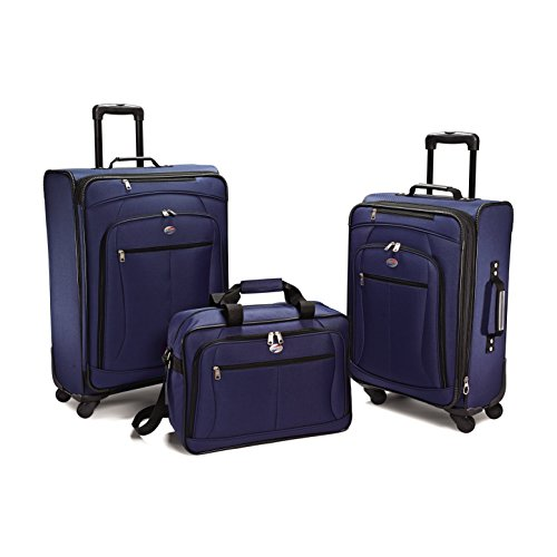 American Tourister At Pops Plus 3Pc Nested Set (One Size, Navy - 3 Piece set) (Tourister 3 Piece American)