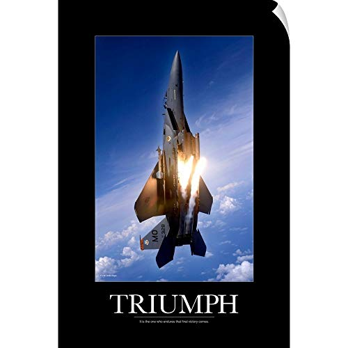 - CANVAS ON DEMAND Kate Lillyson Wall Peel Wall Art Print Entitled Motivational Poster: an F-15E Strike Eagle pops Flares 12