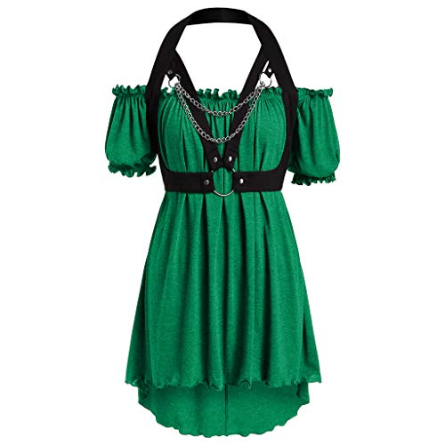 Ladies 1950s Retro Vintage A-Line Cap Sleeve Cocktail Swing Party Dress,LYN Star☪ Plus Size Skirts for Women Midi Length Green