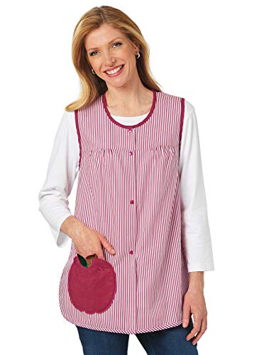 Carol Wright Gifts Patch Pocket Cobbler Apron, Color Apple, Size Extra Large (3X), Apple, Size Extra Large -