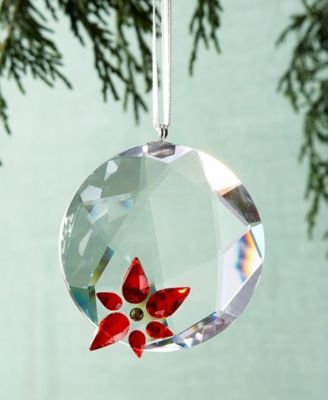Swarovski Crystal Christmas Poinsettia Window Ornament Suncatcher #905214