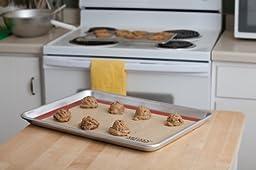 Artisan Professional Classic Aluminum Baking Sheet Pan with Lip, 18 x 13-inch Half Sheet