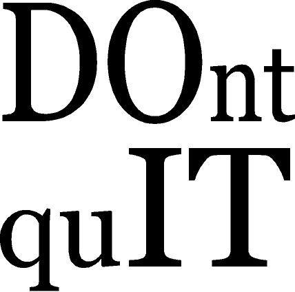 DOnt quIT -gym fitness motivational vinyl wall decal (dark blue, 22