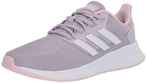 adidas Women's RUNFALCON Track and Field Shoe, Mauve/FTWR White/Clear Pink, 6 Standard US Width US
