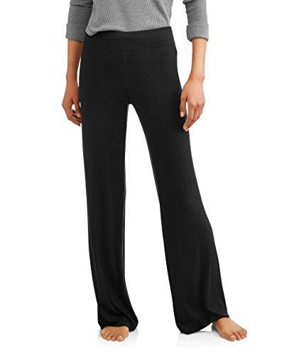 Spandex Sleep Pant (Secret Treasures Black Soot Knit Sleep Pants - X-Large)