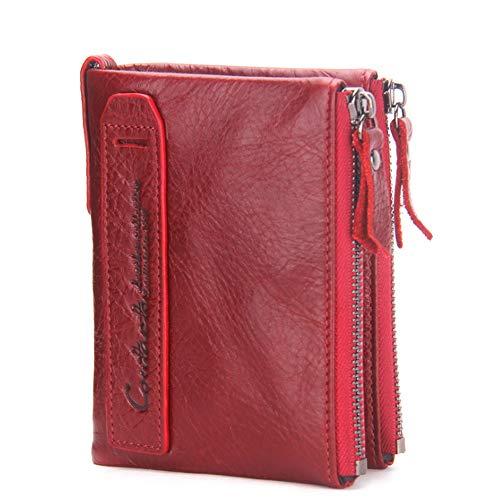 Bags La Monedero Doble Caballo Los De Hombres Corto Del Moda Red Cuero xqrZXqvw1