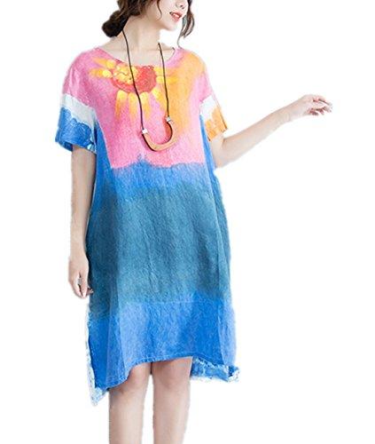 half and half graffiti dress - 4