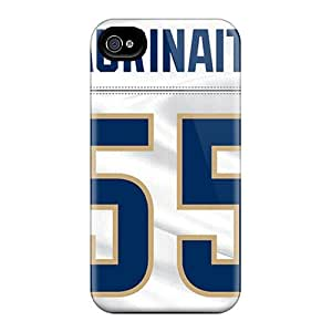Quality 6Plus Case Cover With St. Louis Rams Nice Appearance Compatible With Iphone 4/4s