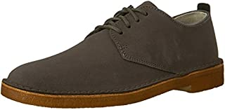 CLARKS Men's Suede Desert London Oxfords, Charcoal, 10 D(M) US (B01F07N2U2) | Amazon price tracker / tracking, Amazon price history charts, Amazon price watches, Amazon price drop alerts