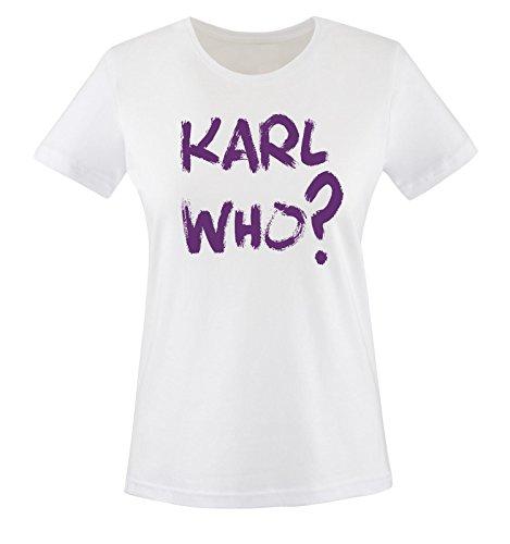 Different Shirt Shirts viola XS bianco Donna Colors Comedy T Karl XXL Who Maglietta Taglia UdXWqvw78