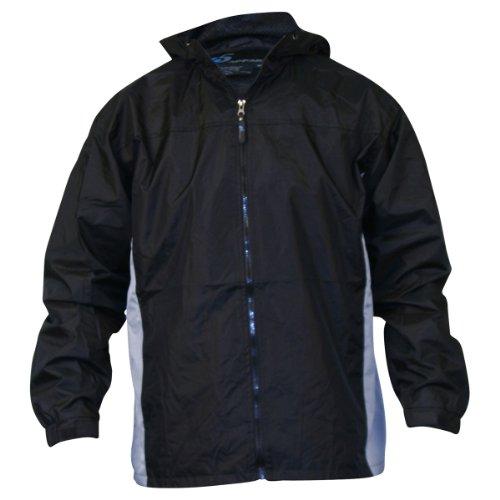 Men's i5 lightweight Hooded Windbreaker Jacket,X-Large,Black / grey