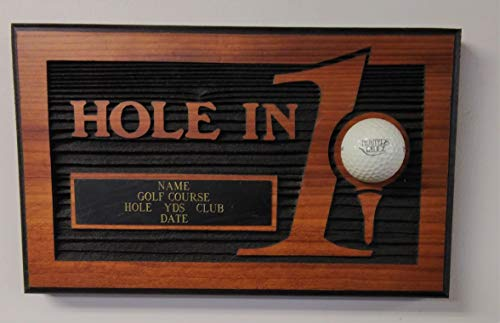 Personalized Hole in One Golf Plaques - Sandblasted On Cedar