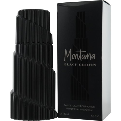 Montana Black Edition Eau De Toilette Spray Men by Claude Montana, 4.2 Ounce