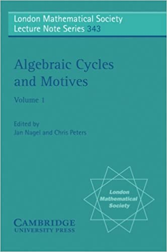 Algebraic Cycles and Motives: Volume 1 (London Mathematical Society Lecture Note Series)