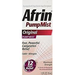 Afrin 12 Hour Pump Mist, Original, 0.5 Ounce