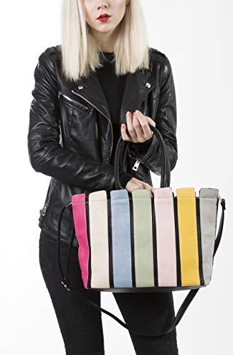 Big Color Shop Bolso De Negro Plástico Correa Con Larga qrq50