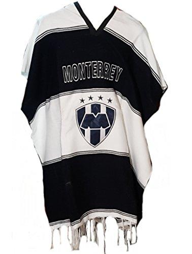 buy popular 9d16b 95ee7 Textiles Mexicanos Mexican Soccer Teams Poncho Cobija Blanket (Monterrey)  Blue