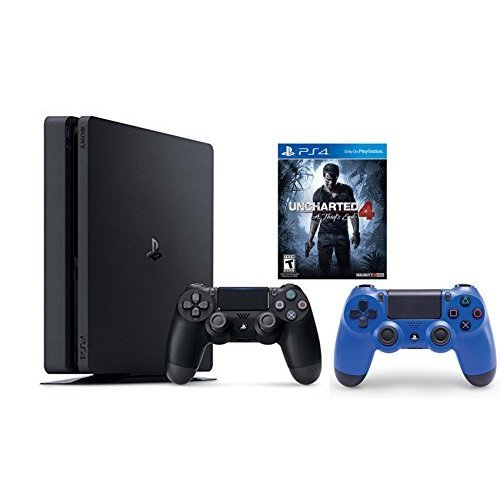 PlayStation 4 Slim Console 2 items Bundle:PS4 Slim - Uncharted 4 Bundle,Sony PlayStation 4 Dualshock...