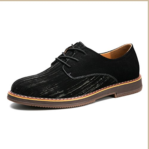 à Mode Souple en Suédé Derby Automne Chaussure Homme Cuir Lacet en Loisirs Noir Chaussure qXwqUPz