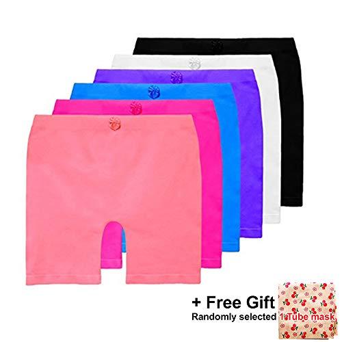 Basico Girls Dance, Bike Shorts 6, 12 Value Packs - for sports, play or under skirts (Big Medium (8-11), 6 Assorted Pack#2) (Little Girl Shorts To Wear Under Dresses)