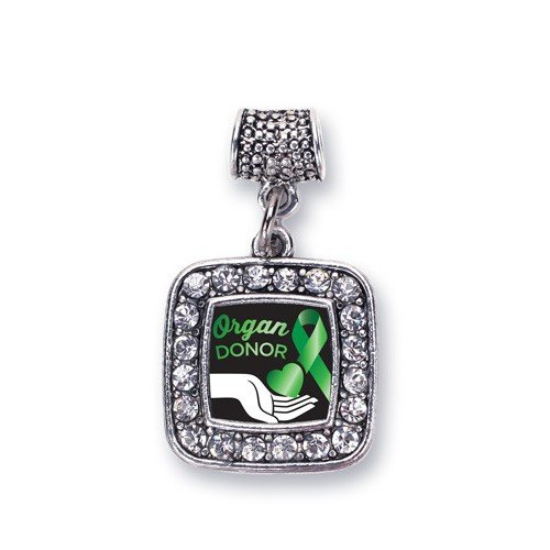 Organ Donor Charm for Pandora Bracelets, Chamilia, Troll, Biagi and other European Styles (Organ Donor Jewelry)