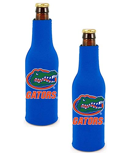 Official National Collegiate Athletic Association Fan Shop Authentic NCAA 2-Pack Insulated Bottle Cooler. Show Team Pride at Home, Tailgating or at The Game (Florida Gators) (Florida Holder Beer Gator)