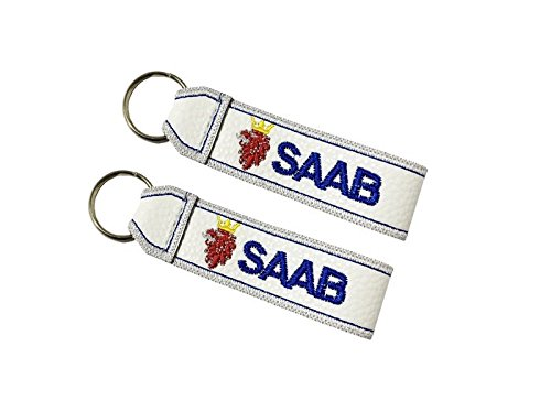 SAAB double sided lanyard keychain white (1 pc.) for sale  Delivered anywhere in USA