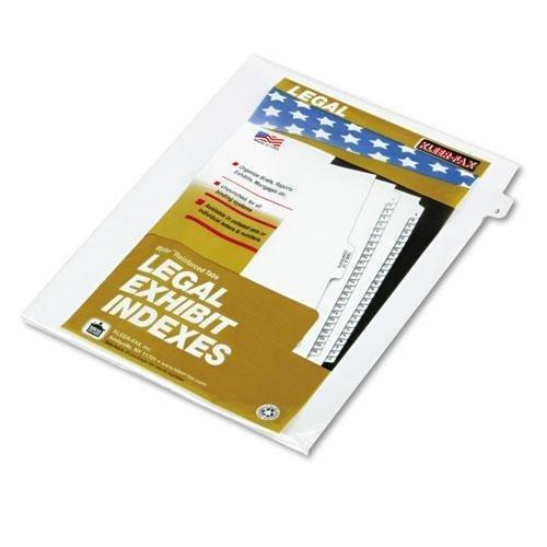 KLEER-FAX 81113 80000 Series Legal Index Dividers, Side Tab, Printed 3, 25/Pack by Kleer Fax