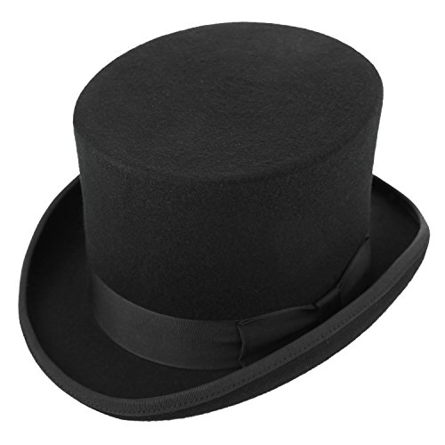Rich Uncle Pennybags Costume (Sedancasesa 100% Wool Felt Top Hat Vitorian Style Gentlemen Magic Performing Hat)