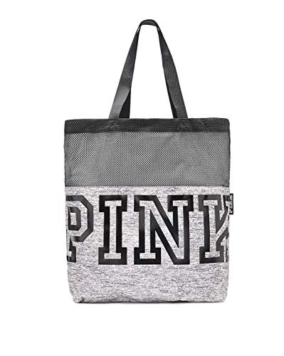 Victoria s Secret Pink MESH Tote Bag Limited Edition Fall, Marl Grey