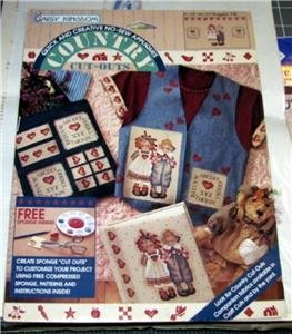 Daisy Kingdom Raggedy Pals No Sew Applique, Country Cut Outs