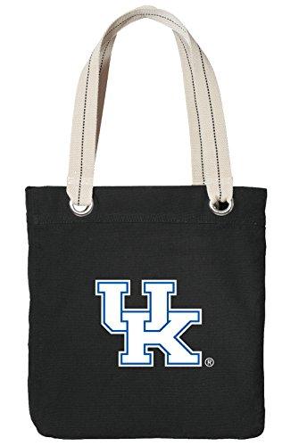 Kentucky Wildcats Tote Bag - University of Kentucky Tote Bag Rich Cotton Canvas Kentucky Wildcats Bags Black