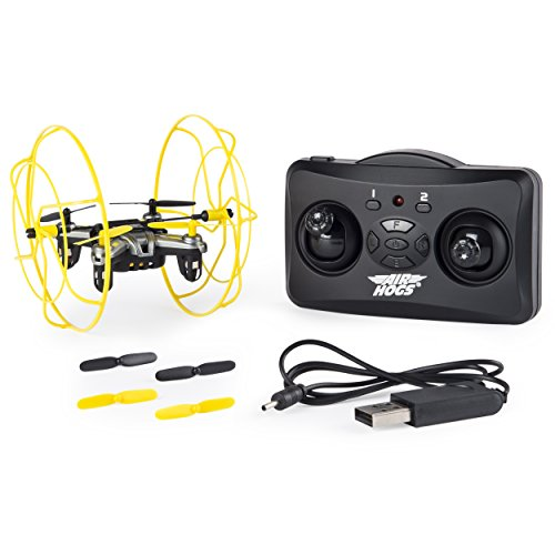 Air Hogs Radio Controlled Helicopter (Air Hogs Hyper Stunt Unstoppable Micro RC Drone Toy Remote Controlled Vehicles, Yellow)