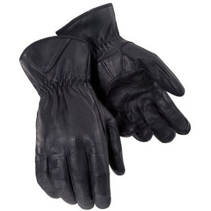 Tourmaster Select Summer Mens Black Leather Gloves - X-Small