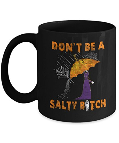 Funny Boo Ghost Mugs Don't be a Salty B itch Office Work Coffee Mug Halloween Costumes Set Gifts Idea for mens womens kids girls boys mom aunt -