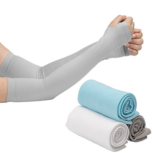 LUTER Arm Sleeves, Arm Cooling Sleeve Covers With UV Sun Protection, Anti Mosquito Bites Special Material and Compression Design for Cycling/Golf/Running/Basketbal/Driving/Climbing For Men and Women by LUTER